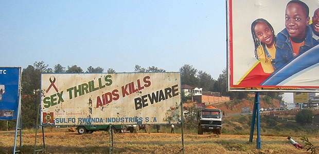 hiv billboard rwanda from world bank