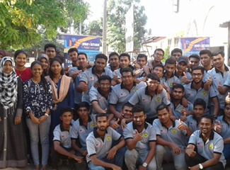 Participants in youth training program