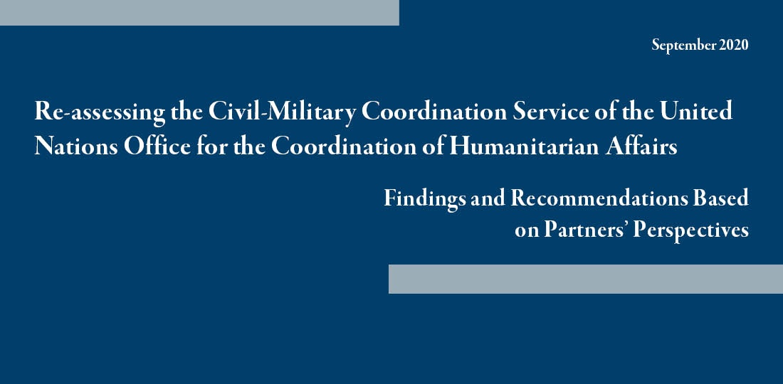 Report: Re-assessing the Civil-Military Coordination Service