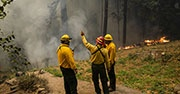 Firefighters respond to wildfire disaster