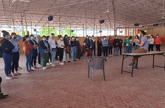 Participants in Nepal training