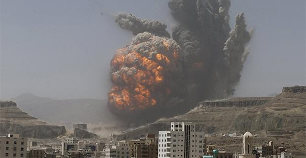 Arial Bombardment in Yemen