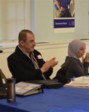 Refugee Dream center staff in training program