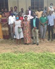 Participants in Ugandan training group