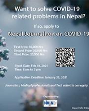 Nepal Journathon on COVID-19 flyer