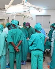 Health workers in Rwanda training program