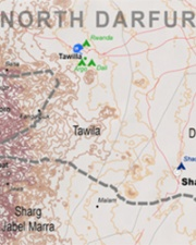 North Darfur map