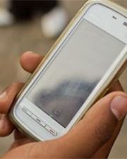 Image of mobile phone for data collection