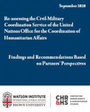 Re-assessing the Civil-Military Coordination Service of the United Nations Office for the Coordination of Humanitarian Affairs: Findings and Recommendations Based on Partners' Perspectives