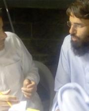 Individuals in faith based organization conversing