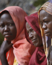 Female patients in Sudan refugee camp