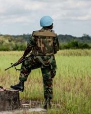 Military member in Liberia