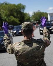 Military member in pandemic response