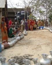 Water distribution in Bangladesh village
