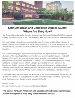 Latin american and Caribbean studies alumni newsletter