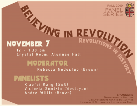 believing in revolution event poster