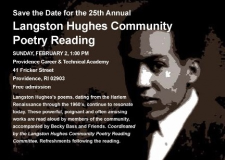 Langston Hughes Community Poetry Reading Poster