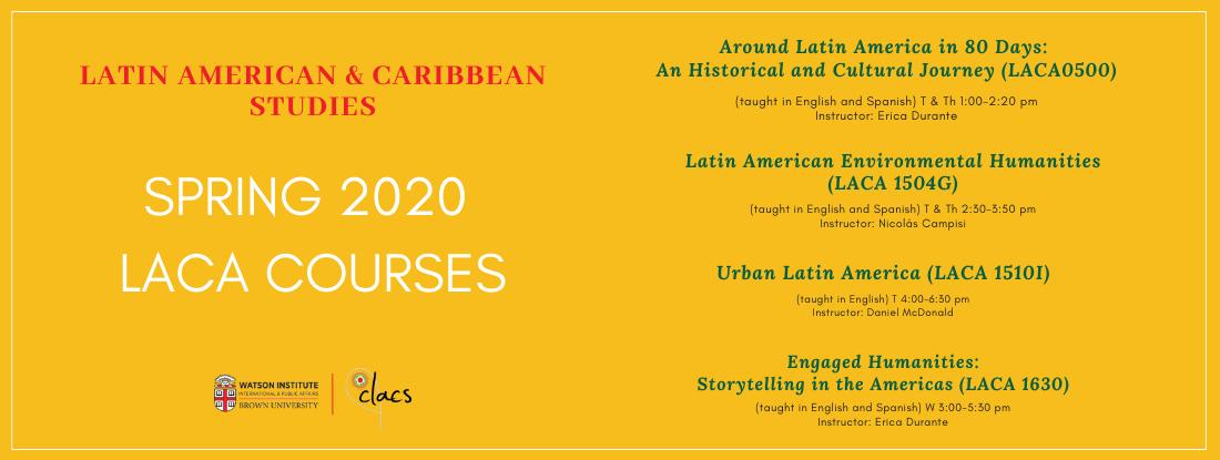 Spring 2020 LACA Courses