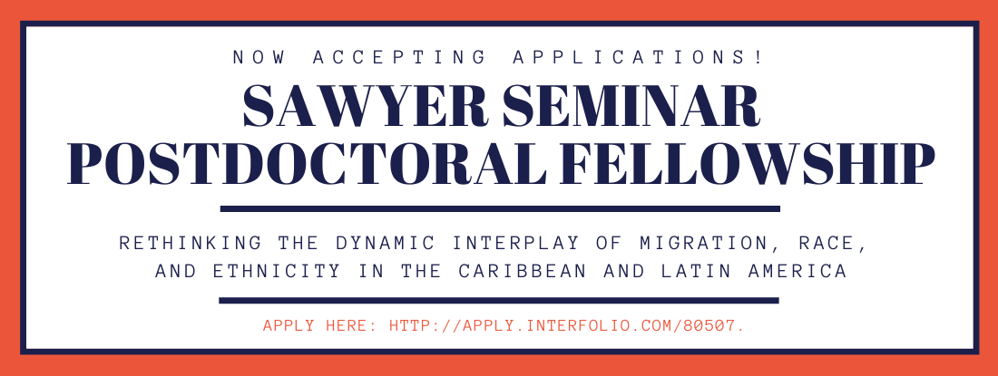 CLACS is now accepting applications for its Sawyer Seminar postdoctoral fellowship.