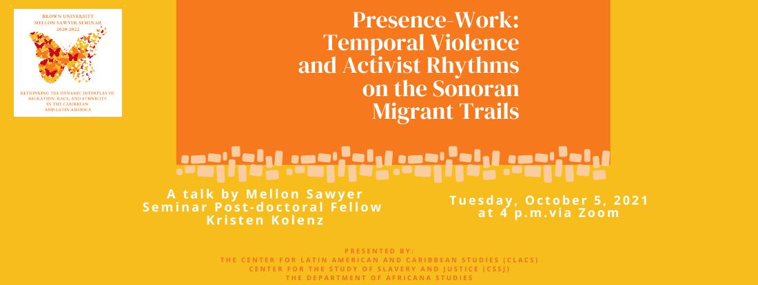 Poster for Kristen Kolenz talk