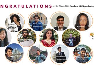 Photos of 12 LACA concentrators graduating this year.