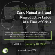 Care, Mutual Aid, and Reproductive Labor in a Time of Crisis