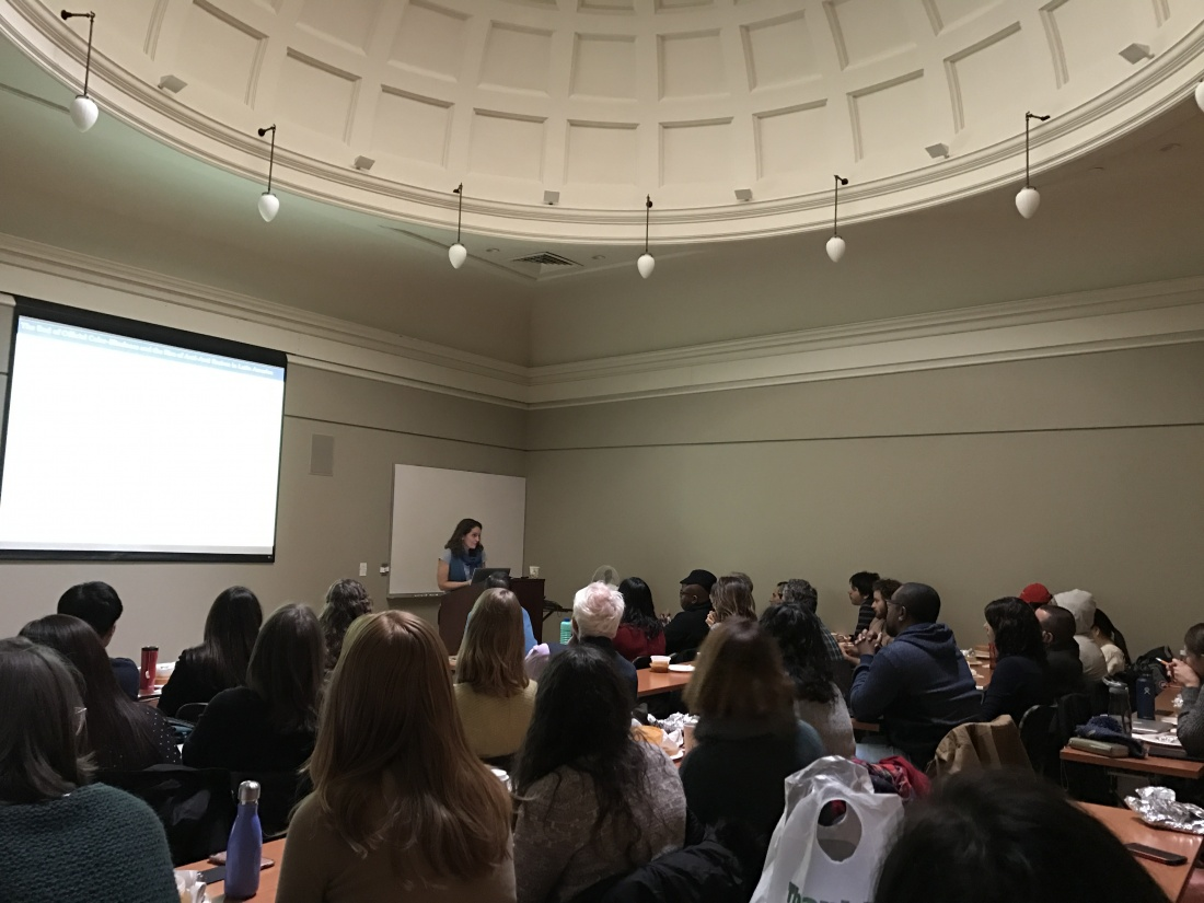 Picture of Lecture, credit to Jo Fisher