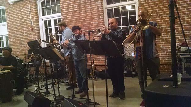 Photo of Viento de Agua musicians at Hope Artiste Village.