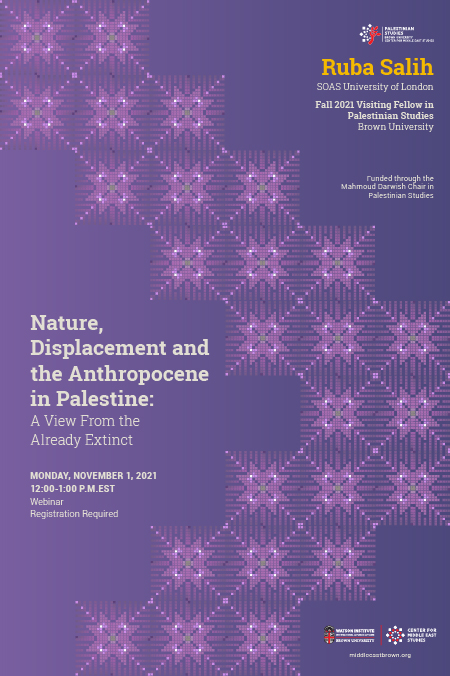Nature, Displacement and the Anthropocene in Palestine Poster