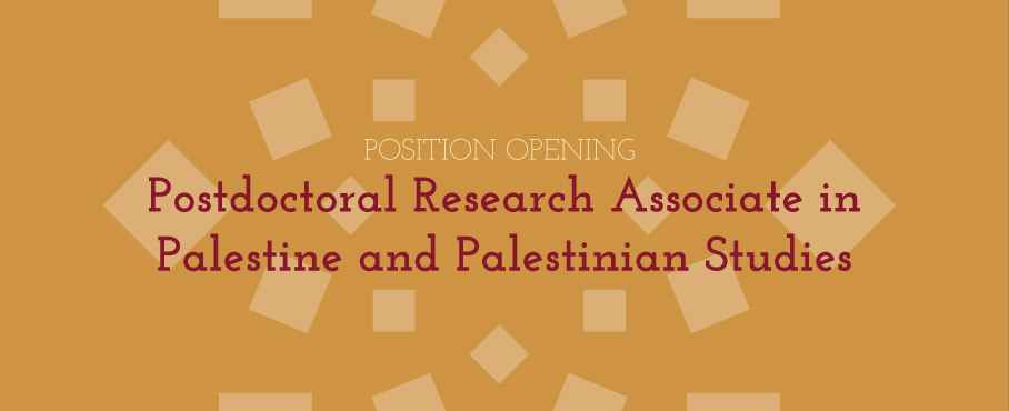 Palestine and Palestinian Studies Postdoc