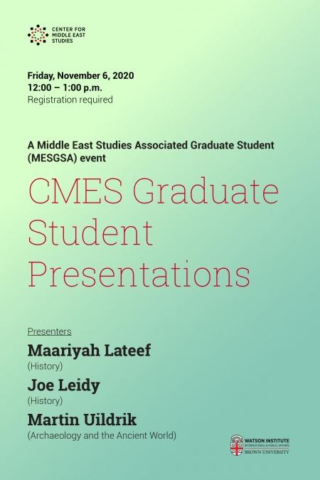 Graduate Student Presentations poster