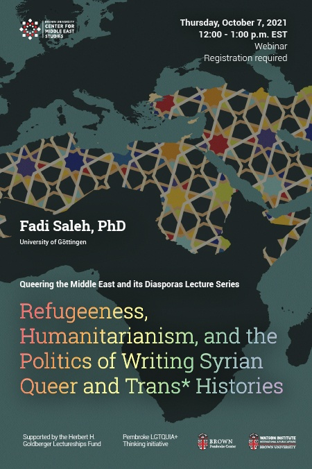 Fadi Saleh Syrian Queer and Trans Histories Poster