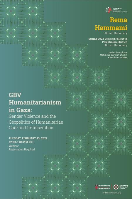 GBV Humanitarianism in Gaza Poster