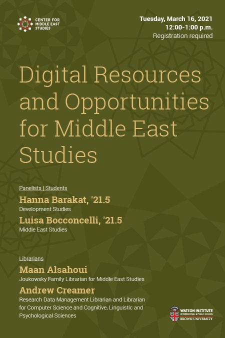 Digital Resources and Opportunities for Middle East Studies poster