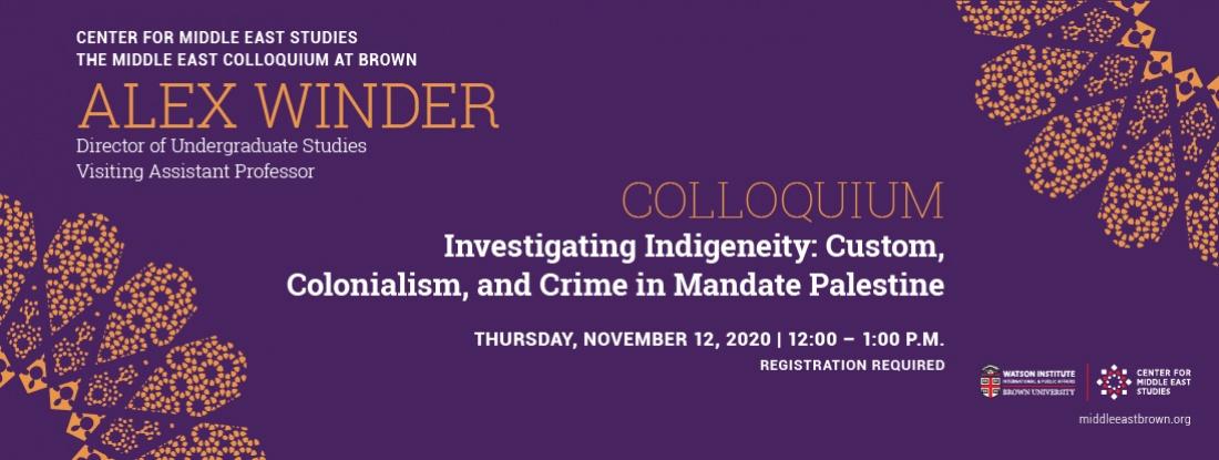 Alex Winder colloquium