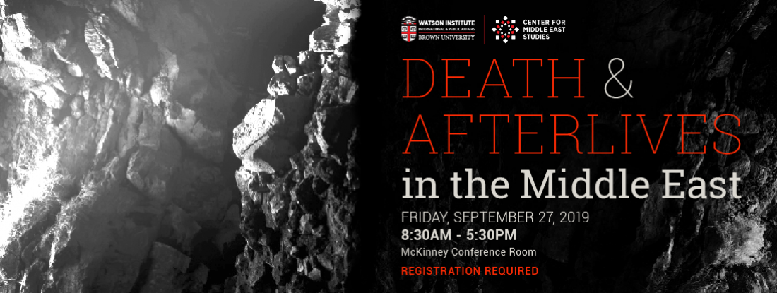 Death and Afterlives in the Middle East event poster