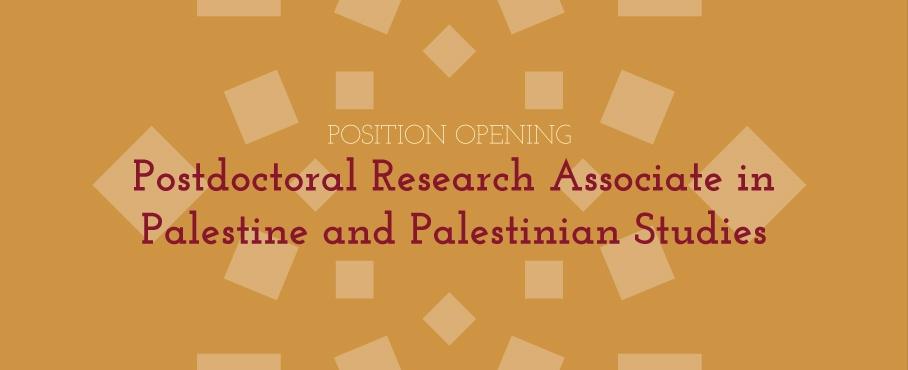 Palestine and Palestinian Studies Postdoc