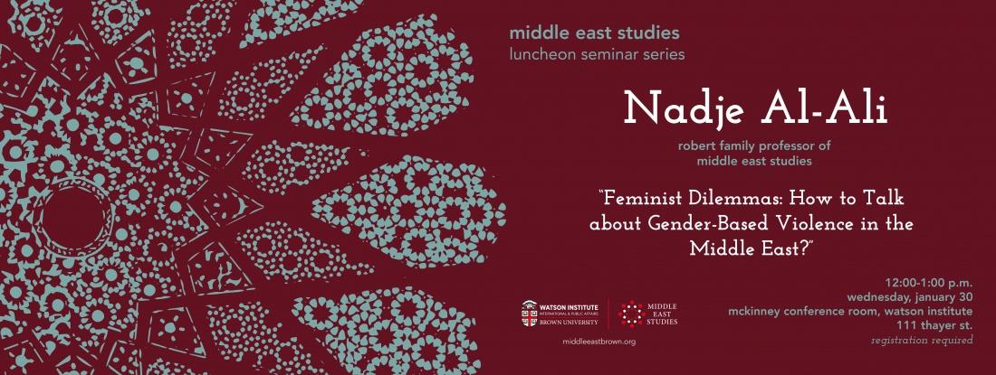 Nadje Al-Ali event banner