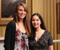 Julia Kantor '12 and Elizabeth Duthinh '12, Senior Award Winners