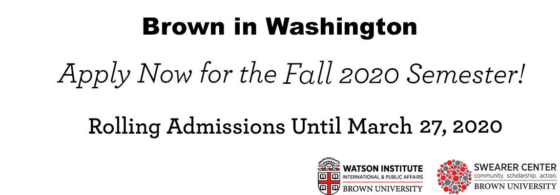 Brown in Washington Spring 2020 Deadline