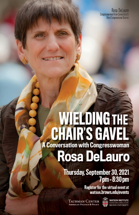 Wielding the Chair's Gavel poster with Rosa DeLauro