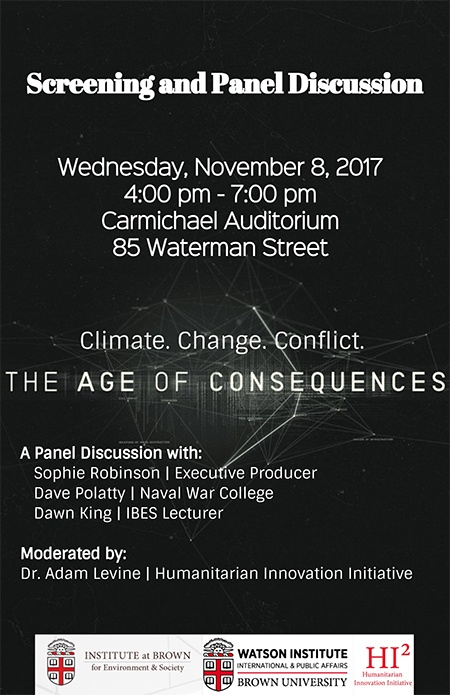 The Age of Consequences - Screening and Panel Discussion