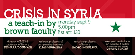 Crisis in Syria event banner