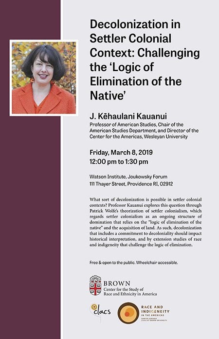 Kēhaulani Kauanui – Decolonization in Settler Colonial Context: Challenging  the 'Logic of Elimination of the Native