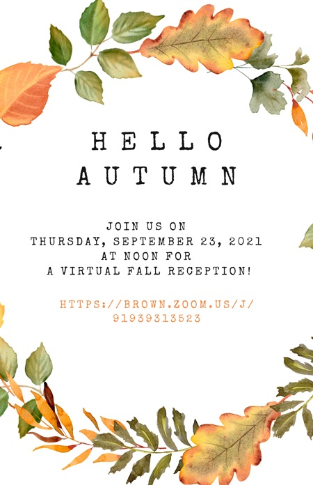 Hello Autumn fall poster for CLACS