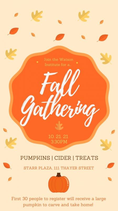 Fall Gathering poster