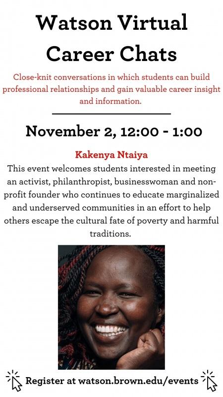 Kakenya Ntaiya career chat