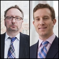 Mark Blyth (left) and John Friedman (right)