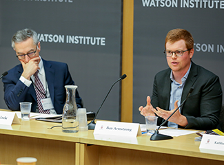 Rick Locke and Ben Armstrong at the Watson Institute