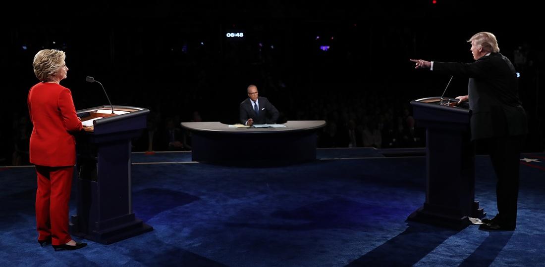 Hillary Clinton and Donald Trump, Presidential Debate